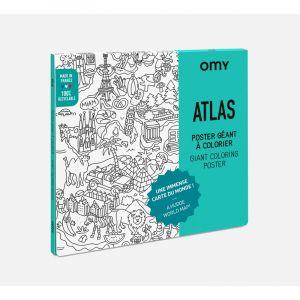 Atlas -  Poster à colorier XXL