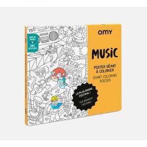 Musique - Poster à colorier