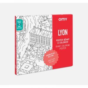Poster a colorier Lyon