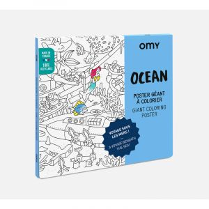 Océan - poster à colorier