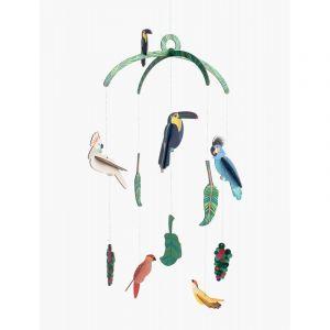 Mobile oiseaux exotiques