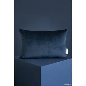 Coussin velours bleu nuit