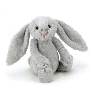 Peluche lapin gris moyen