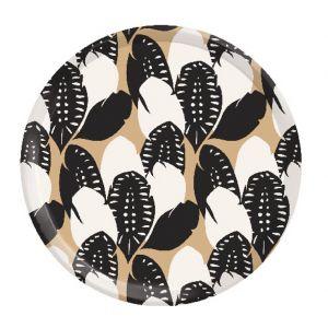 Plateau en bouleau Plumes - rond 35cm - Oiseaux Muses