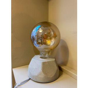 Lampe béton hexagone gris