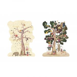 Puzzle reversible Mon arbre - 50 pièces