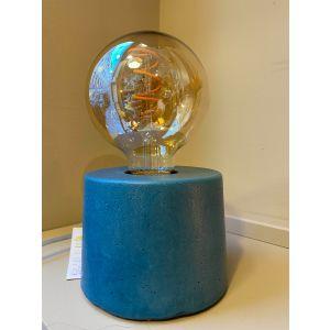 Lampe béton cylindre petrole