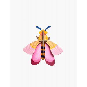 Décoration murale abeille rose
