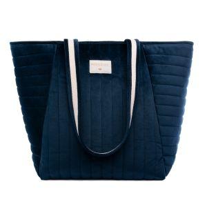 Savana velvet sac a langer bleu
