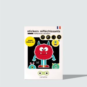 Stickers Retroreflechissant Monstre rouge