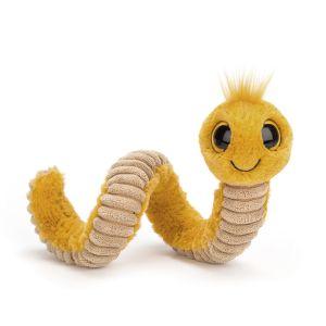 Wiggly Worm Yellow - peluche vers