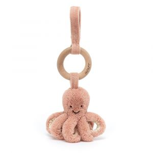 Odell Octopus Wooden Ring Toy - anneau de dentition pieuvre