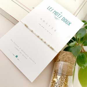 Bracelet amitie blanc irise