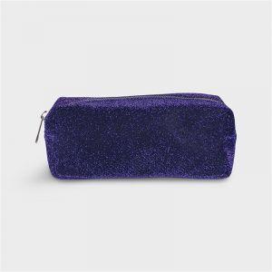 Trousse paillette violette