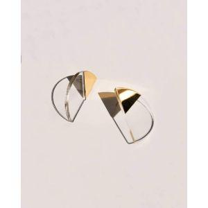 Boucles d'oreilles Cel'S transparentes plaqué or
