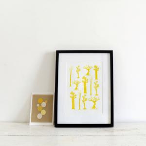Arbres jaunes Affiche #27