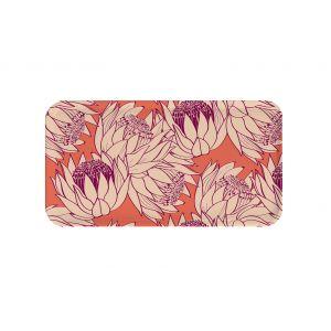 Plateau en bouleau Fleurs - rectangle 43x22cm