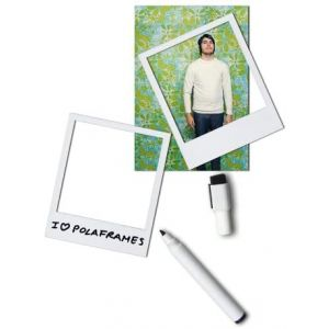 Cadres aimantés Polaframes, blanc format polaroid