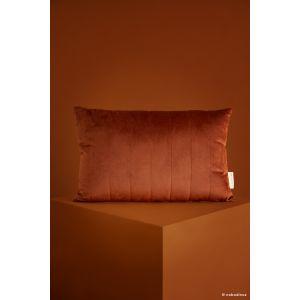 Coussin velours marron