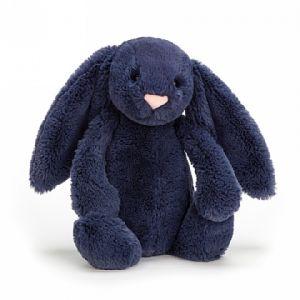 Bashful Navy Bunny Medium - peluche lapin