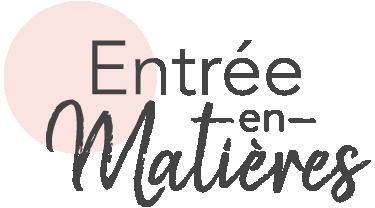 Logo Entrée en matières